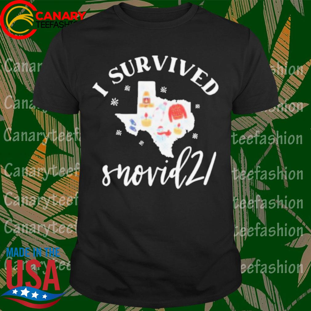 Official Survived Snovid 21 Texas Strong Snow Storm 2021 Winter Texas shirt