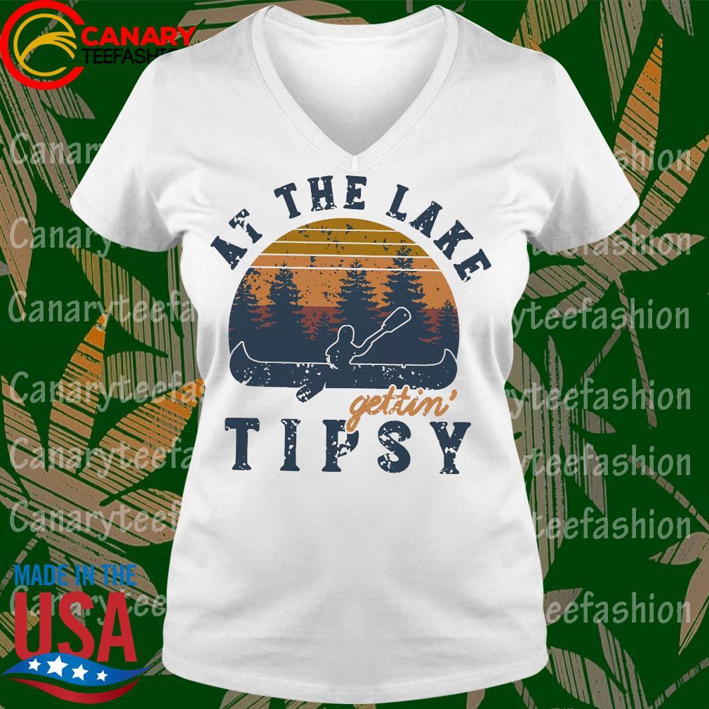 At the lake Gettin tipsy vintage s Ladytee