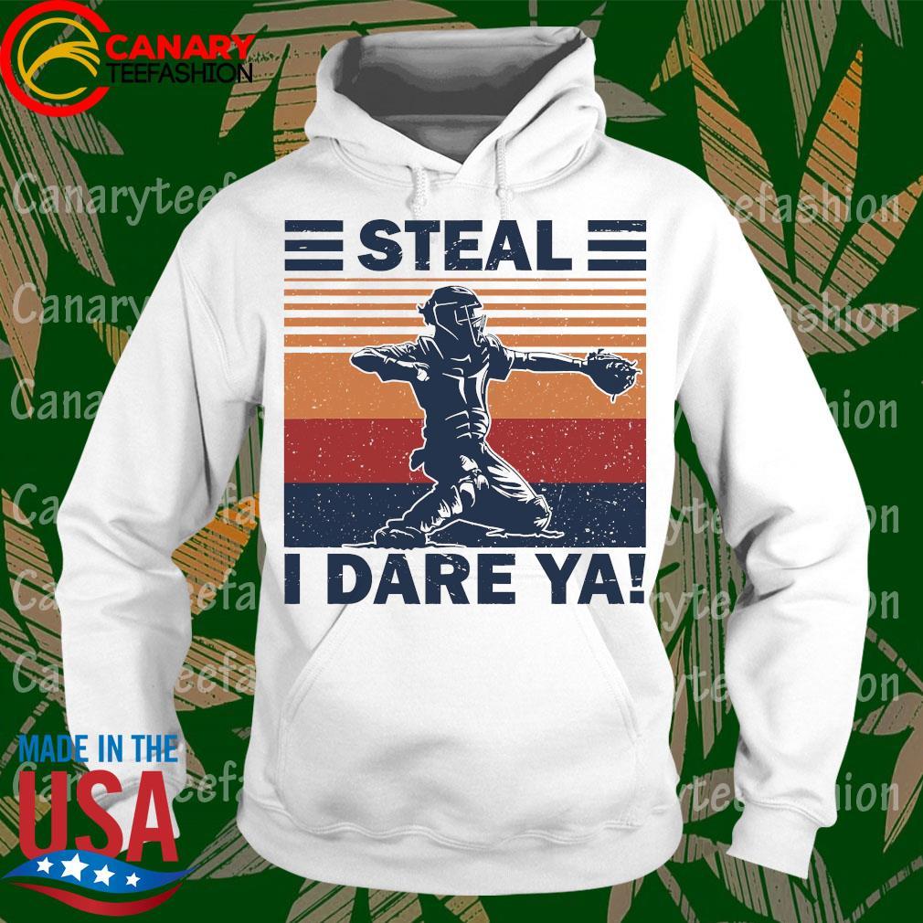 Baseball Steal i dare Ya vintage s hoodie