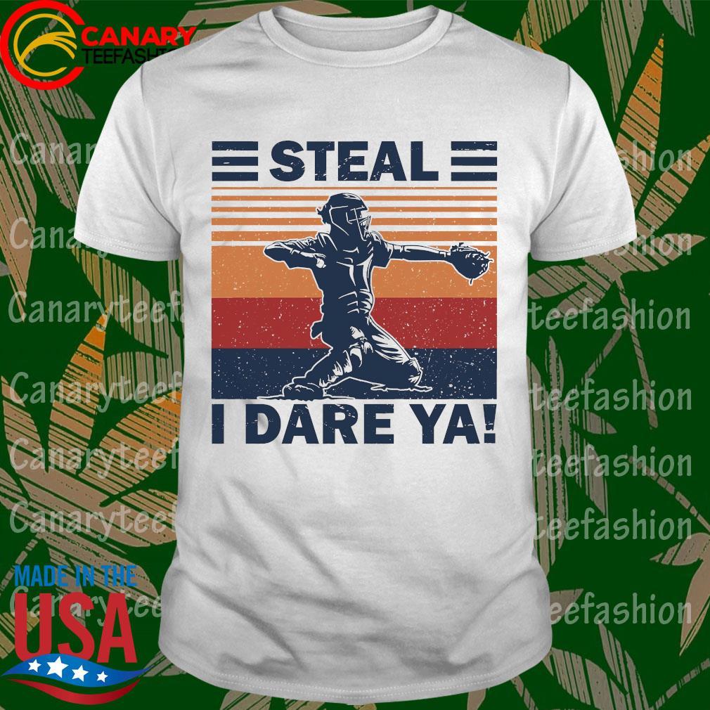 Baseball Steal i dare Ya vintage shirt