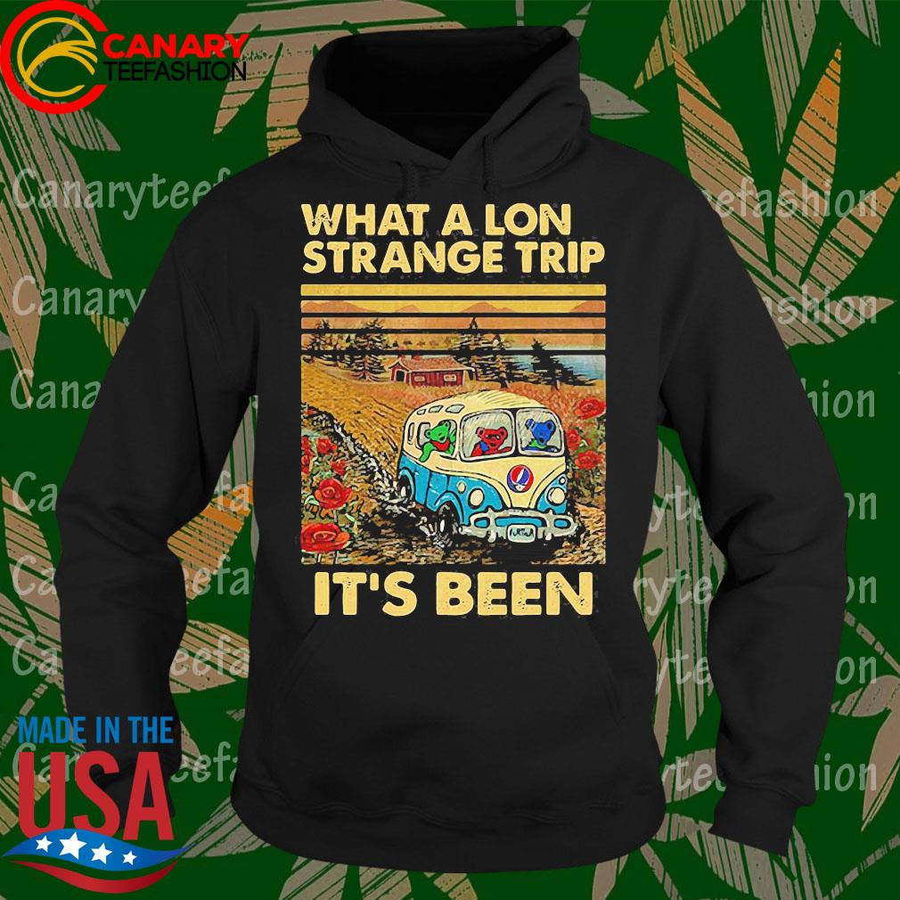 Bear Deadhead driver what a lon strange trip it's been vintage s Hoodie
