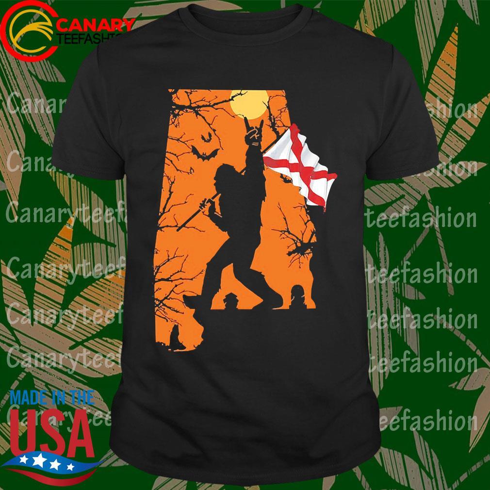 Bigfoot flag Alabama Halloween shirt