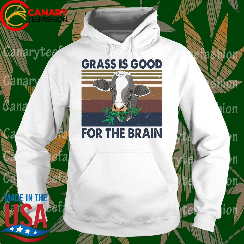 Grass is good for the brain vintage s hoodie