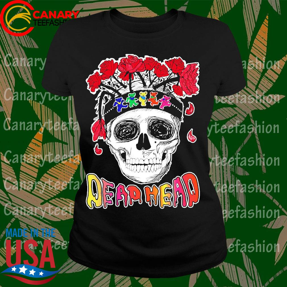 Skull Rose Dead head s LadyTee