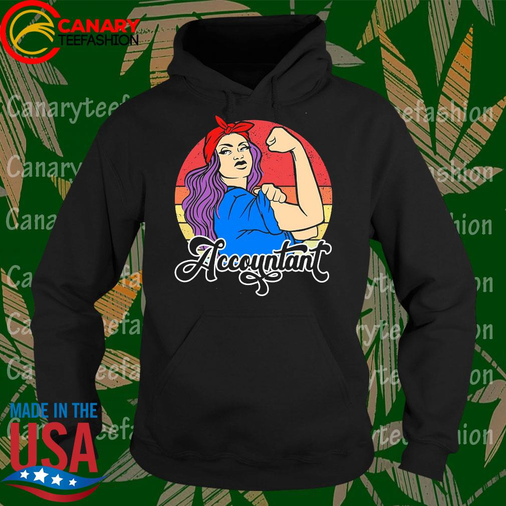 Strong Woman accountant vintage s Hoodie