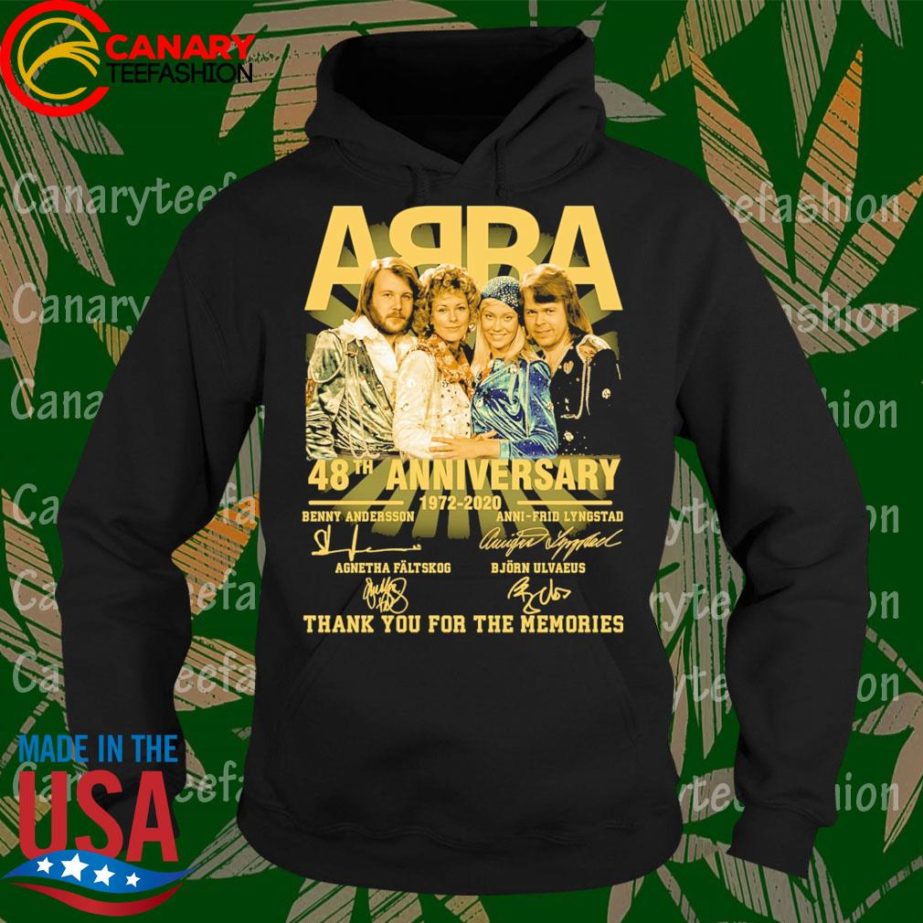 ABBA 48th anniversary 1972-2020 thank You for the memories signatures s Hoodie
