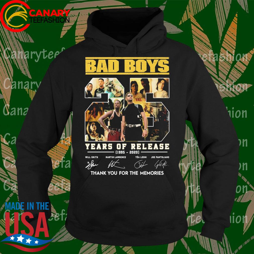 Bad Boys 25 Years of release 1995-2020 thank You for the memories signatures s Hoodie