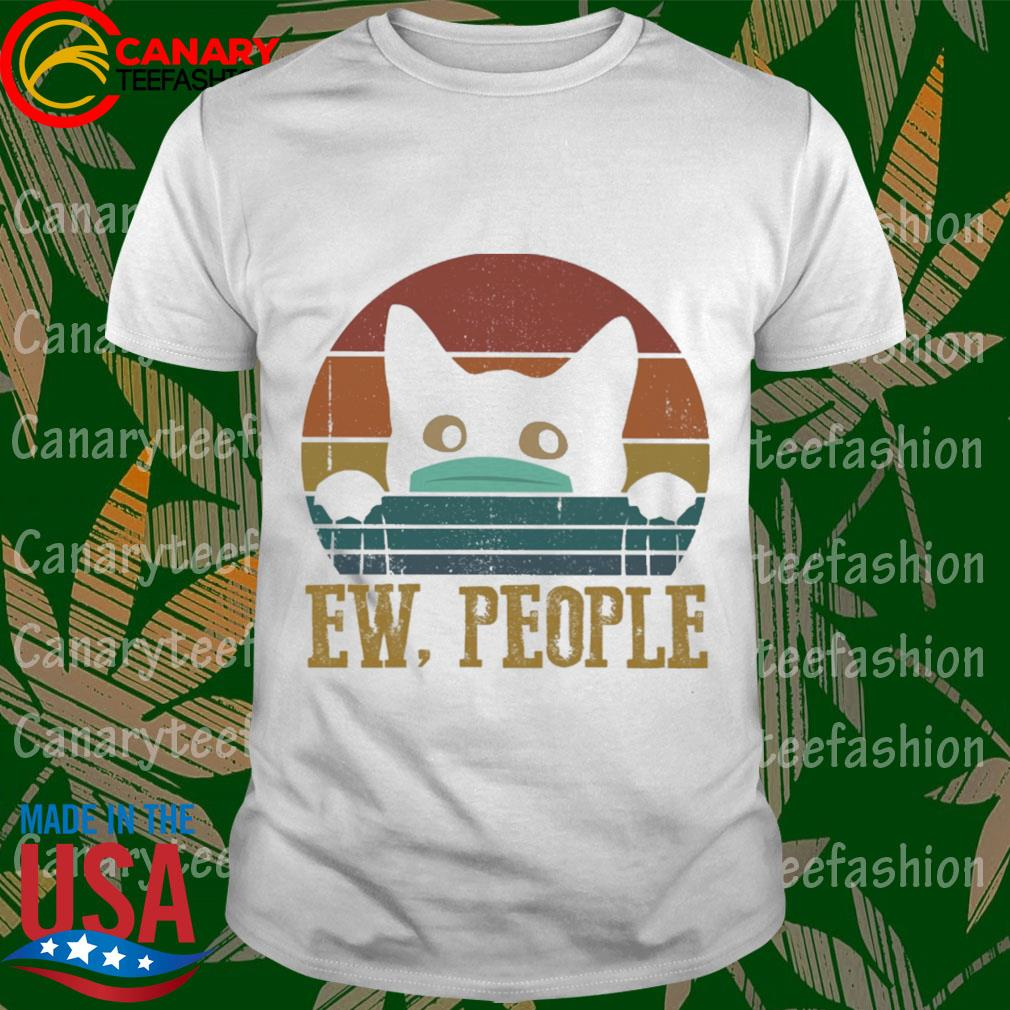 Cat Face Mask Ew people vintage shirt