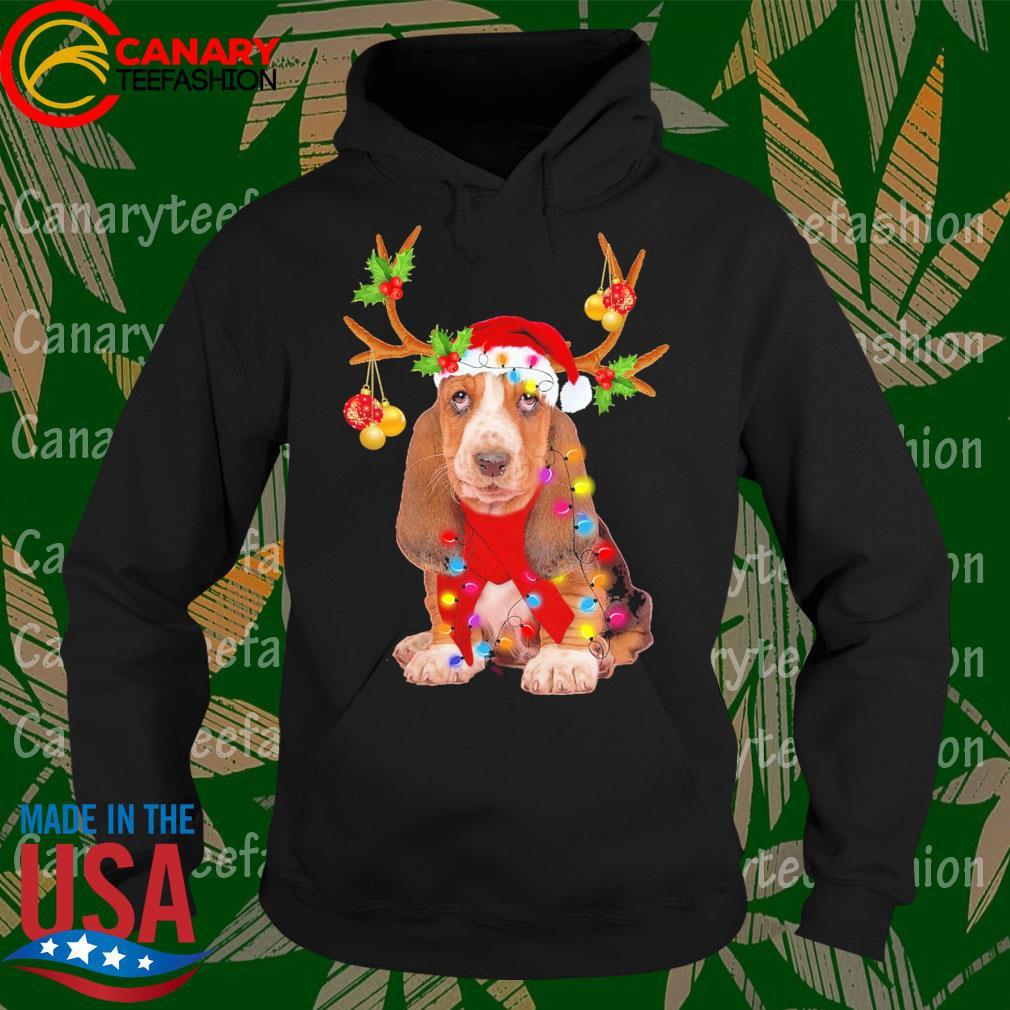 Basset Hound gorgeous reindeer Merry Christmas s Hoodie