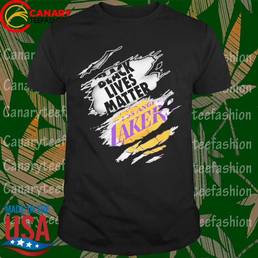 Blood inside me Black lives Matter Los Angeles Lakers shirt