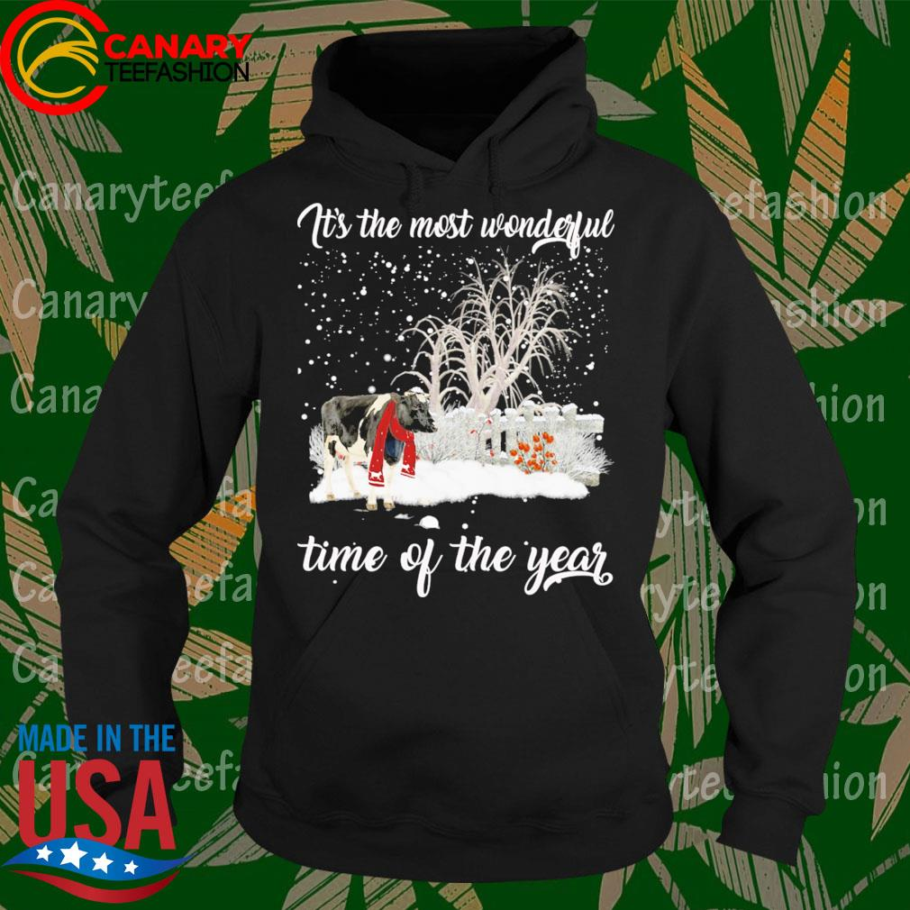 Dairy Cow Merry Christmas It's the most wonderful time of the year s Hoodie