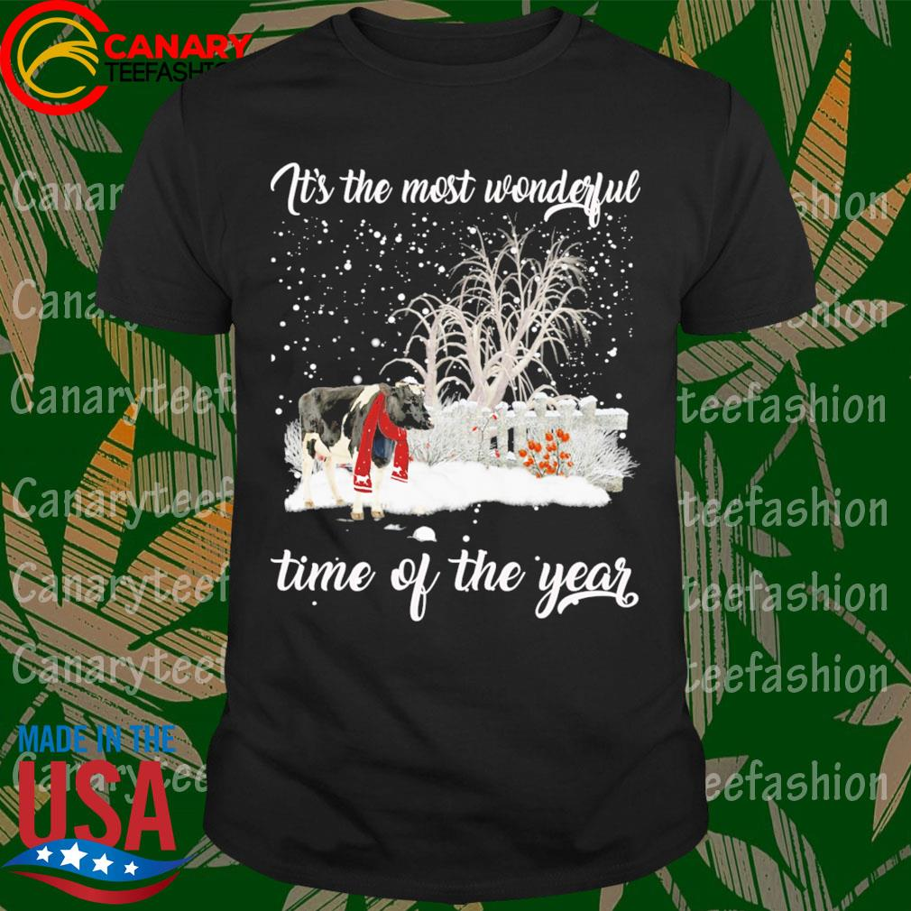 Dairy Cow Merry Christmas It's the most wonderful time of the year shirt