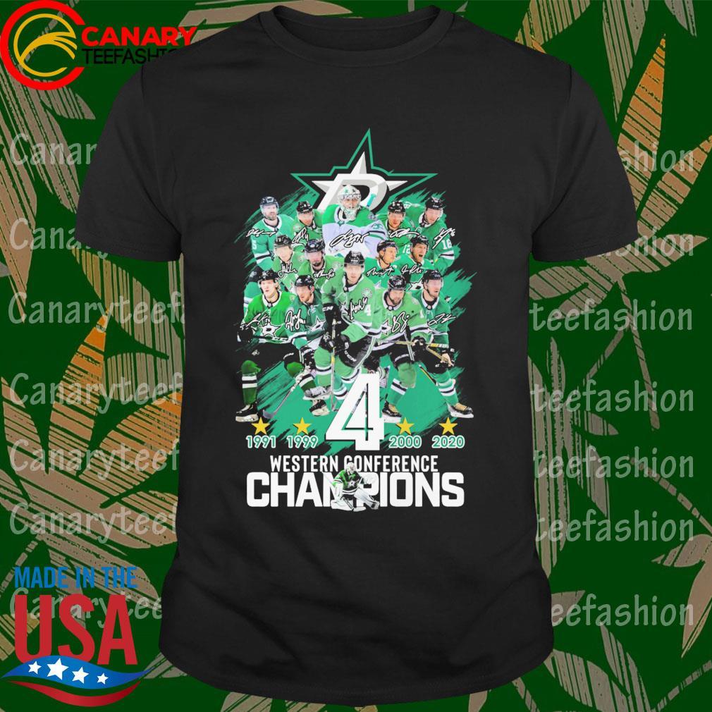 Dallas Stars 1991 1999 4 2000 2020 western conference Champions shirt
