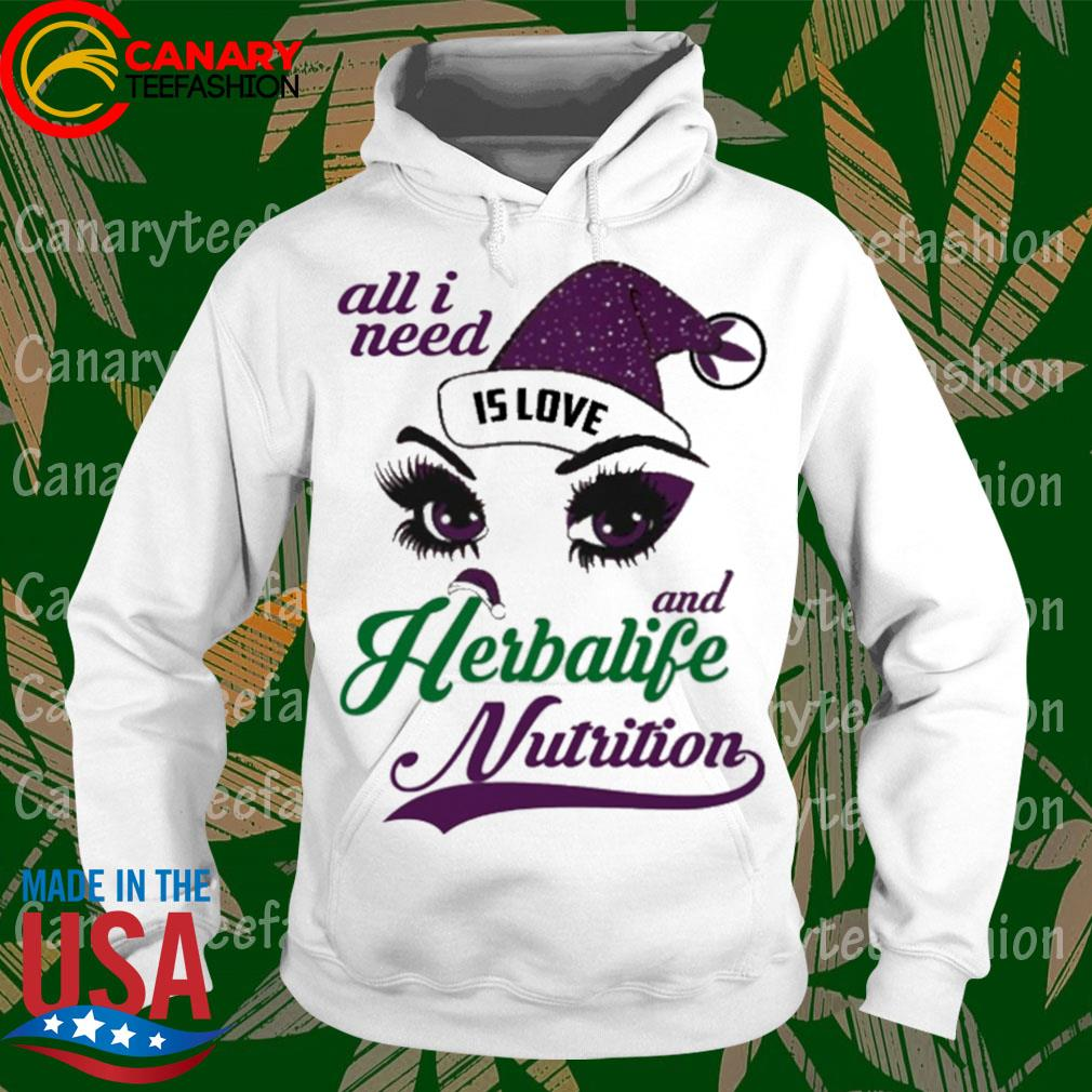 Eyes All I need is love and Herbalife Nutrition s hoodie