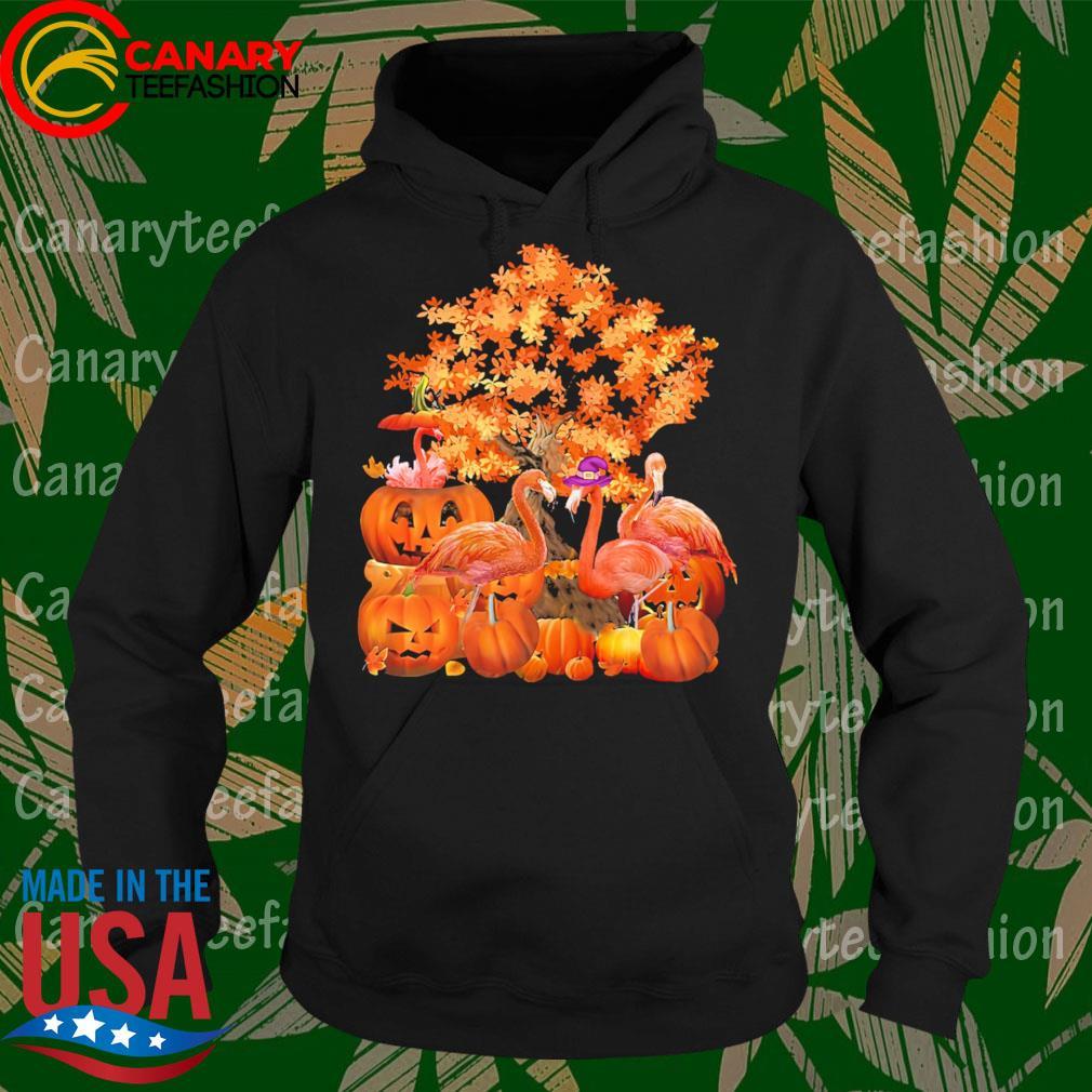 Flamingos pumpkin happy Halloween s Hoodie