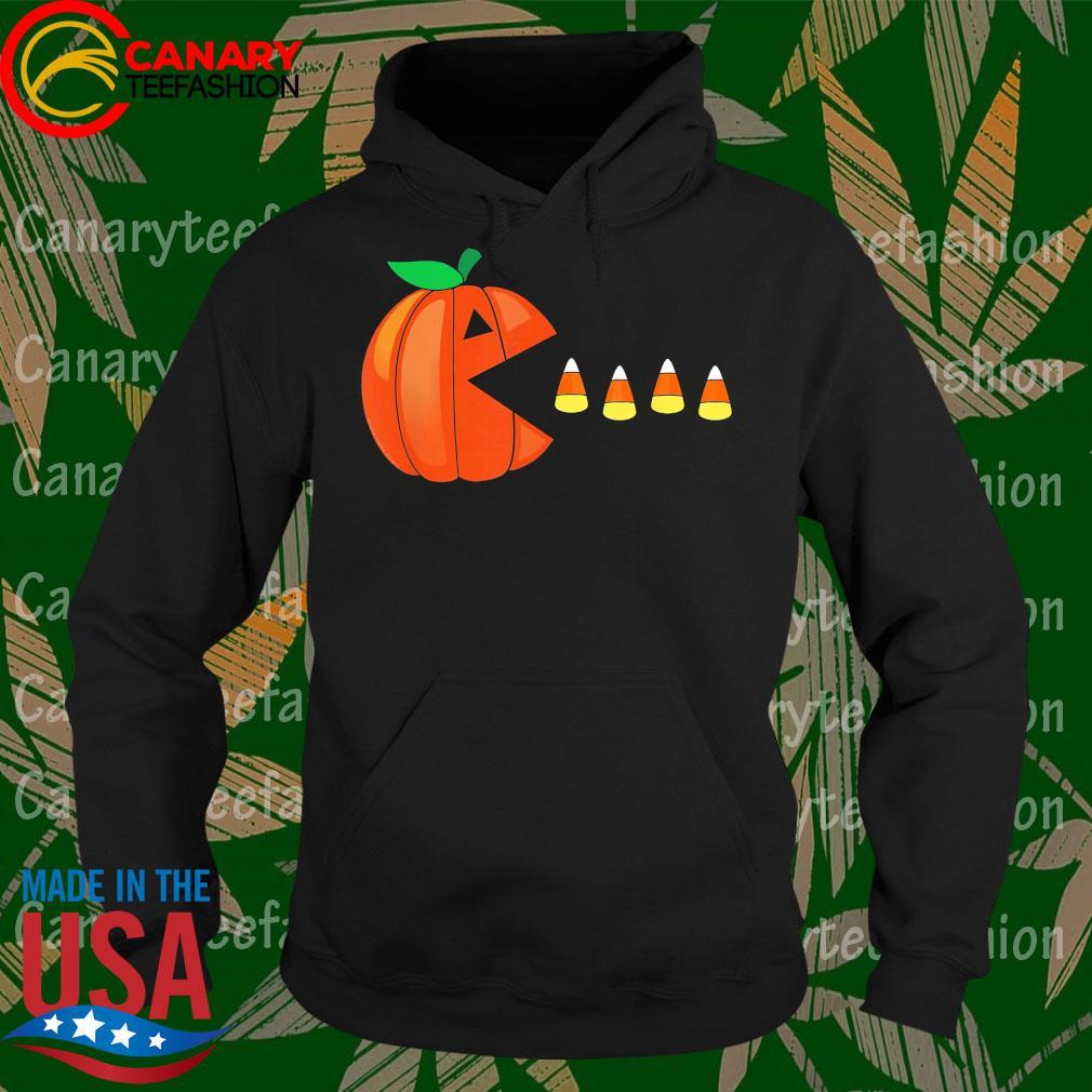 Funny Halloween Pumpkin Eating Candy Corn Gift s Hoodie