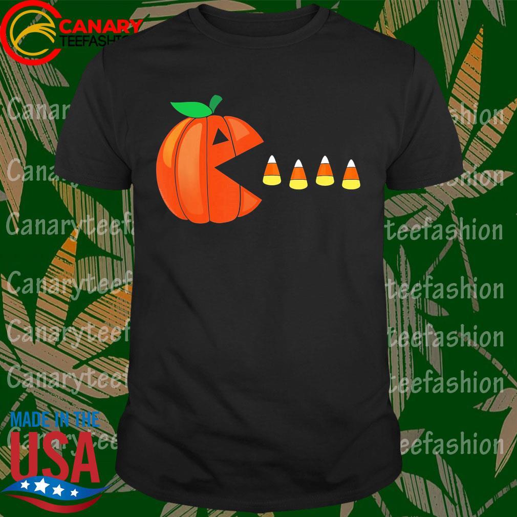 Funny Halloween Pumpkin Eating Candy Corn Gift shirt