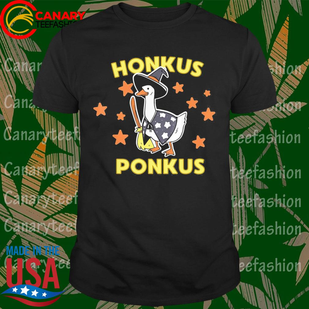 Funny Halloween Witches Honk Goose Cute Honkus Ponkus Gifts shirt