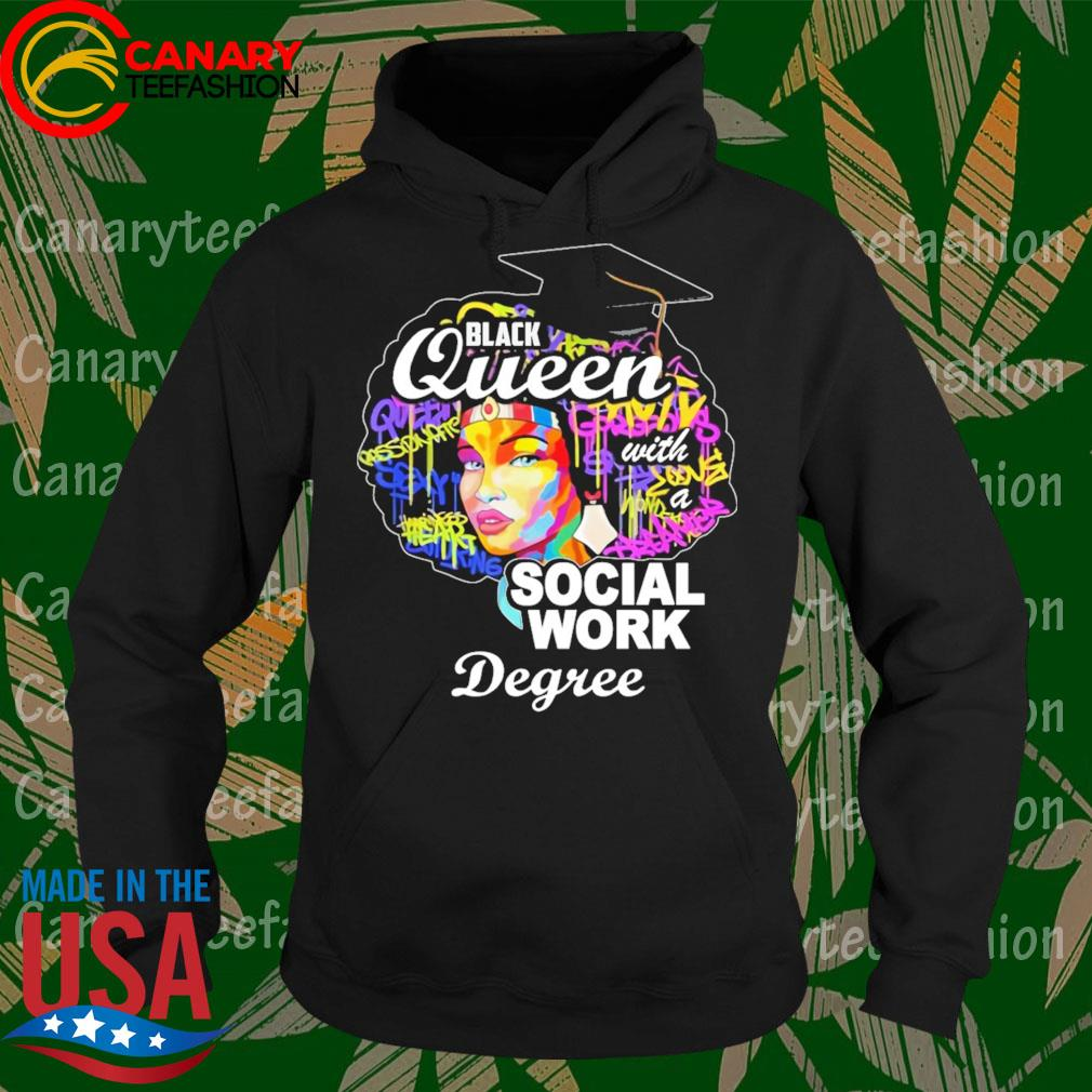 Great Black Queen Social Work Degree For Mother's Day s Hoodie