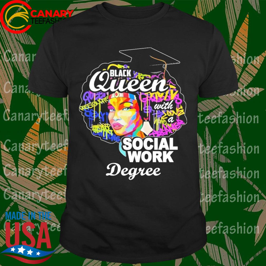 Great Black Queen Social Work Degree For Mother's Day shirt