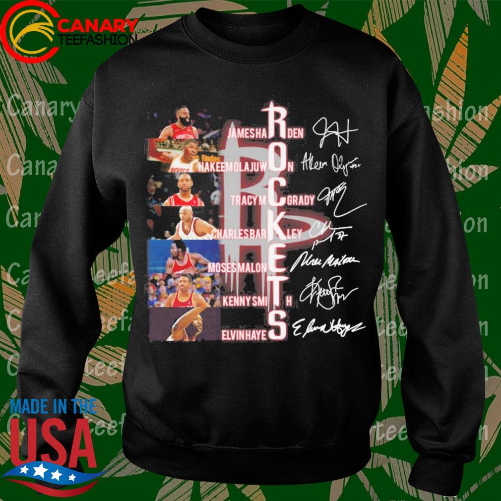 Houston Rockets Jamesha Rden Hakeem Olajuwon Tracy Mcgrady signatures s Sweatshirt