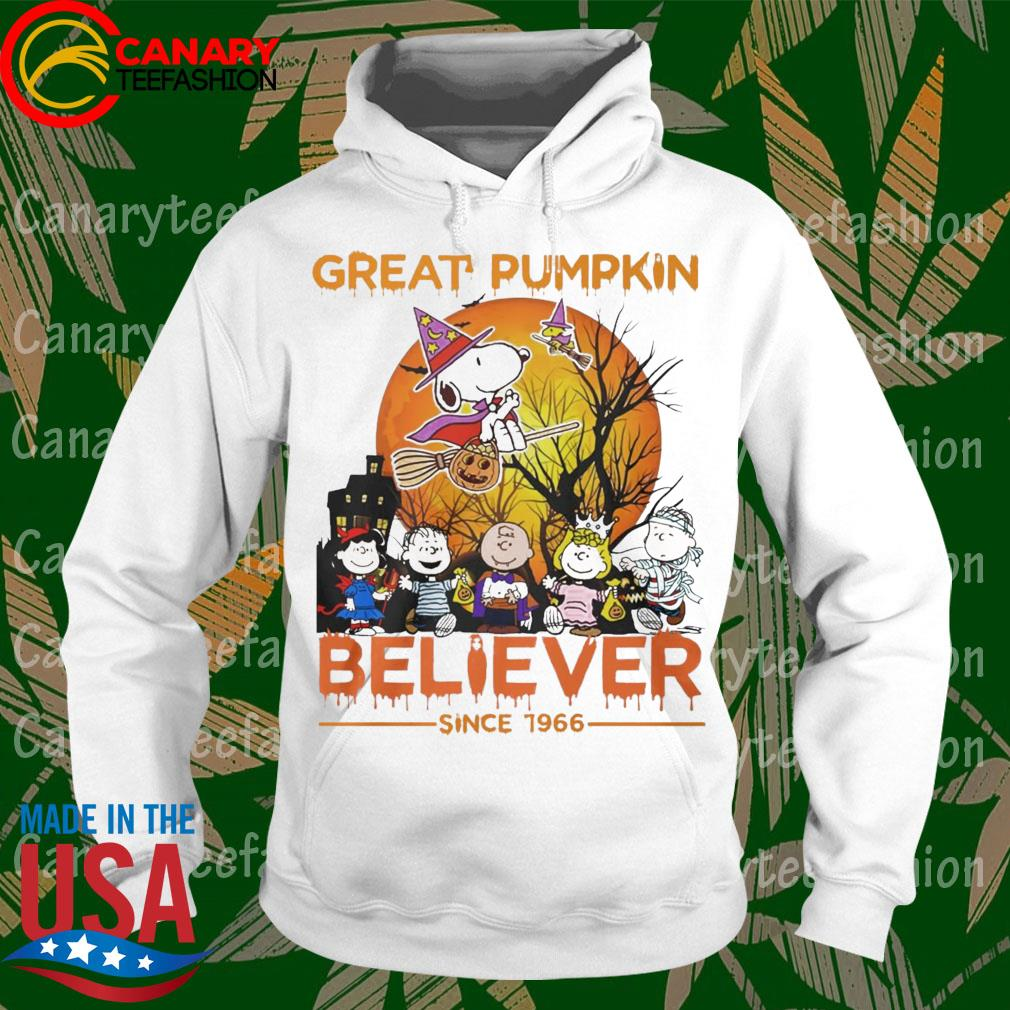 Snoopy and Friends great pumpkin Believer since 1966 happy Halloween s hoodie