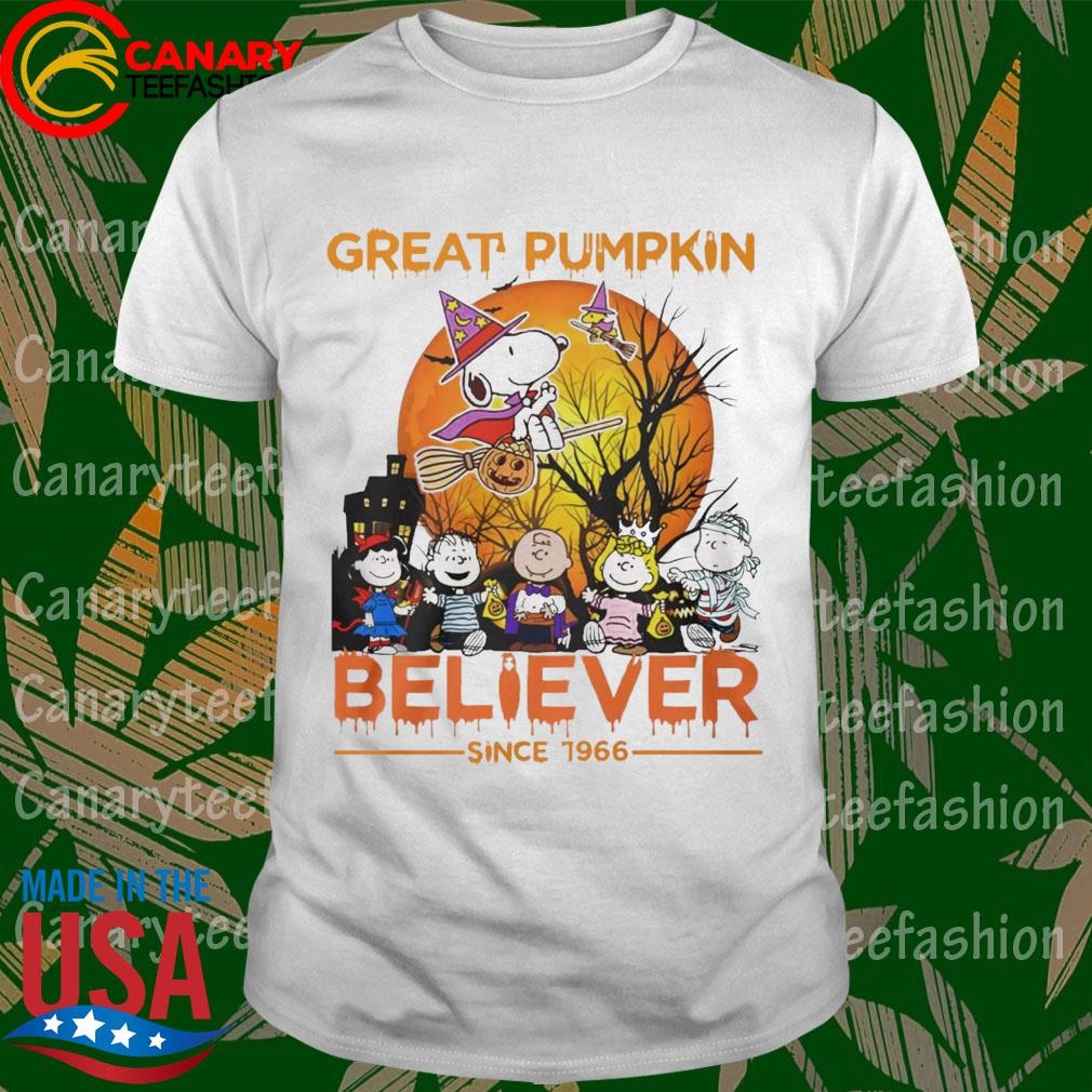 Snoopy and Friends great pumpkin Believer since 1966 happy Halloween shirt