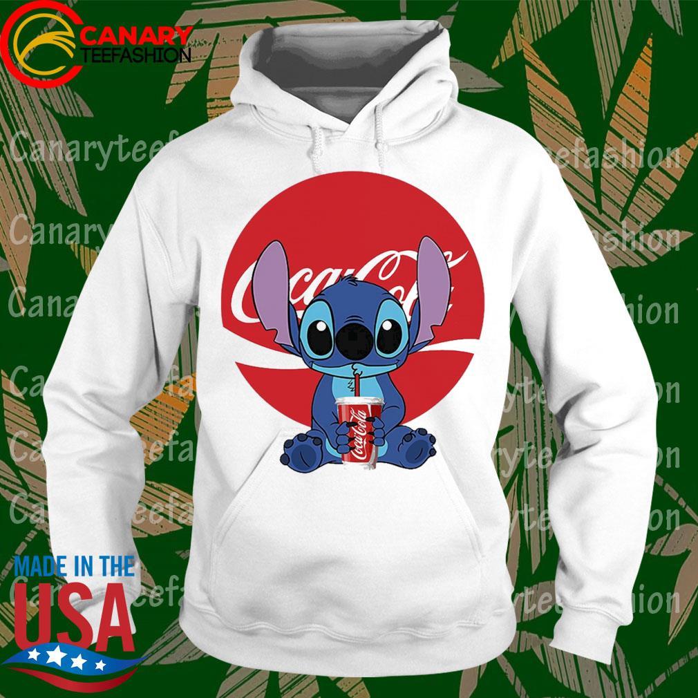 Stitch hug drink Coca Cola s hoodie