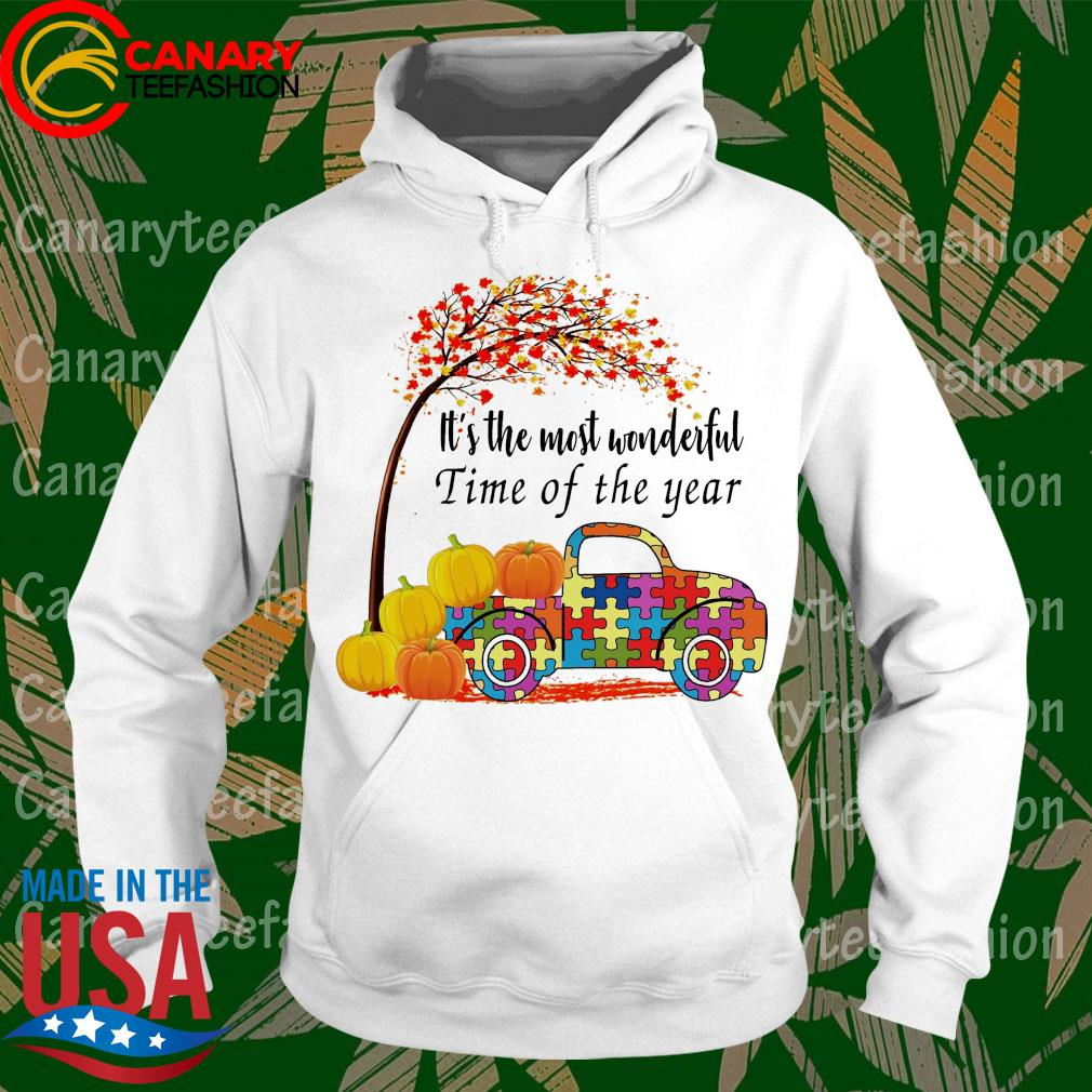 Truck Autism pumpkin It's the most wonderful time of the year s hoodie