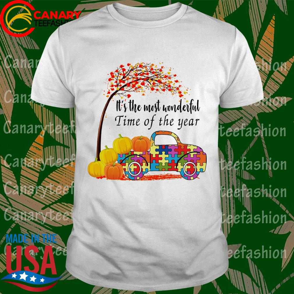 Truck Autism pumpkin It's the most wonderful time of the year shirt