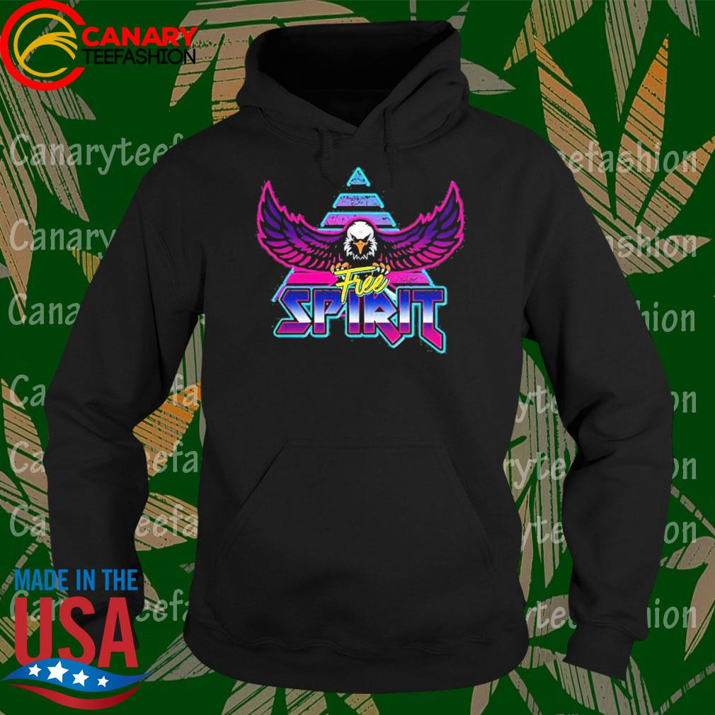 Free Spirit Eagle 80s Rock Band Style Shirt Hoodie