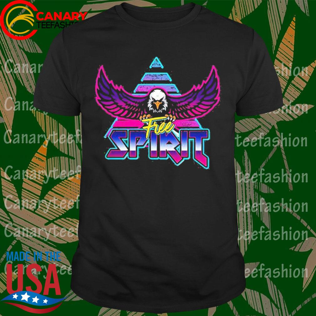 Free Spirit Eagle 80s Rock Band Style Shirt