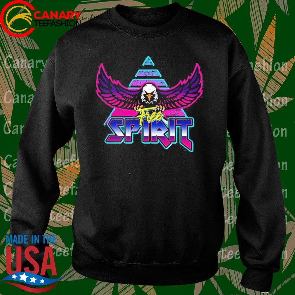 Free Spirit Eagle 80s Rock Band Style Shirt Sweatshirt