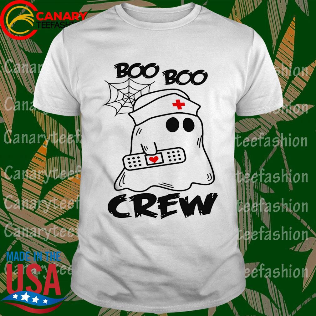 Ghost Nurse Boo Boo Crew funny shirt