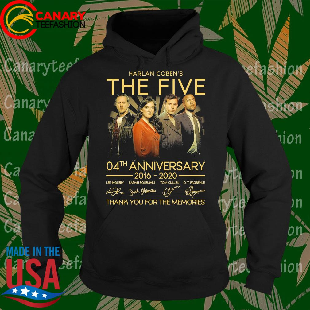 Harlan Coben's The Five 04th anniversary 2016 2020 thank you for the memories signatures s Hoodie