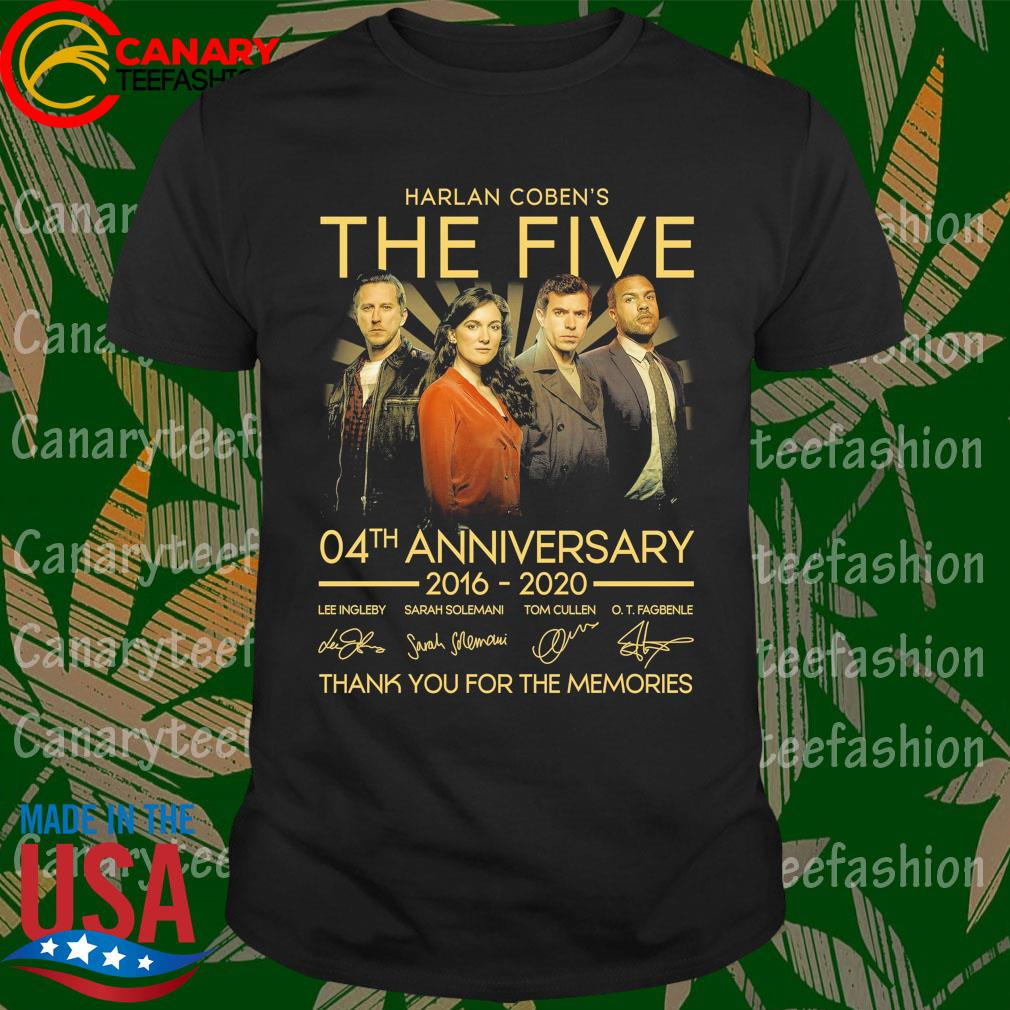 Harlan Coben's The Five 04th anniversary 2016 2020 thank you for the memories signatures shirt