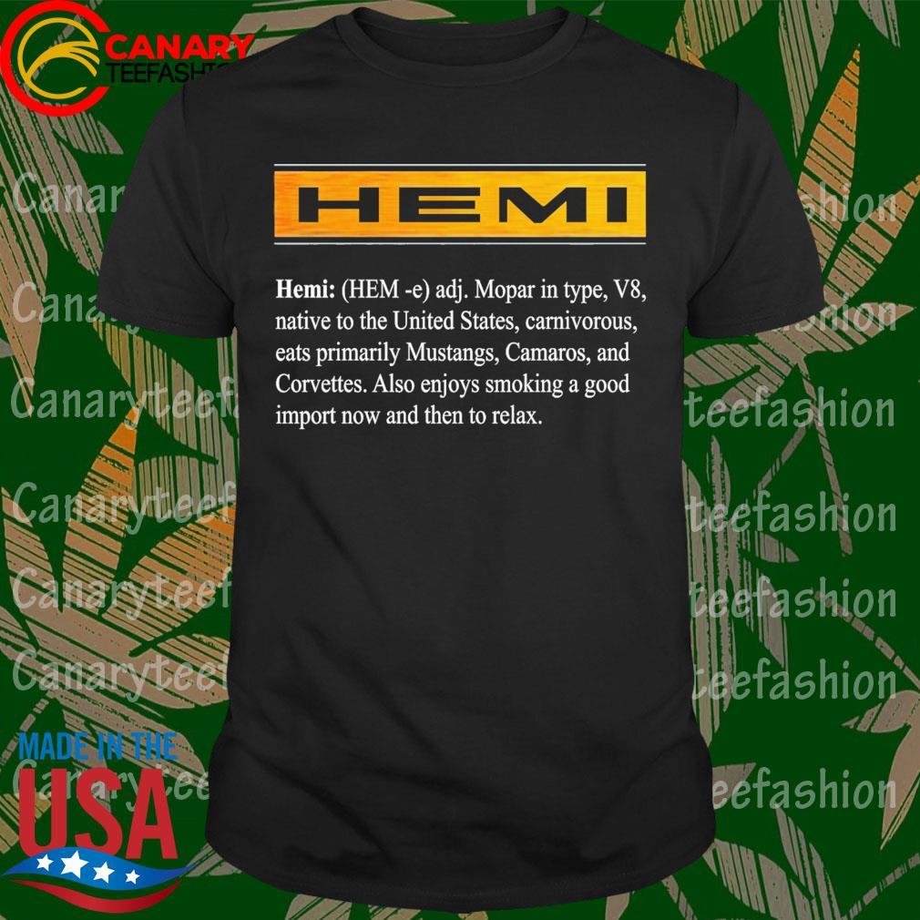 Hemi mopar in type V8 native to the United States shirt