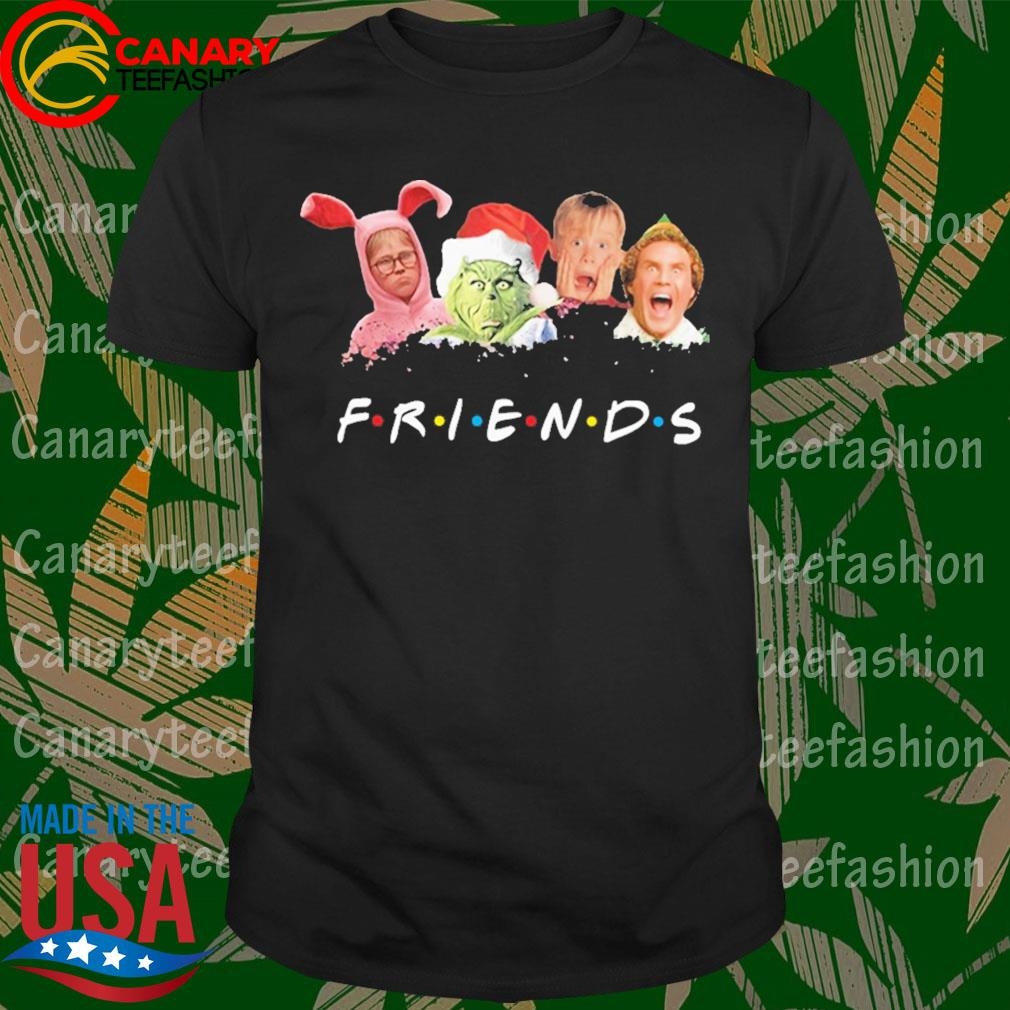 Official Ralphie Brooke Nieter elf Chevy Chase Grinch face Friends Christmas shirt