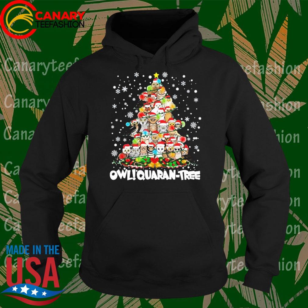 Owl Quaran Tree Christmas s Hoodie