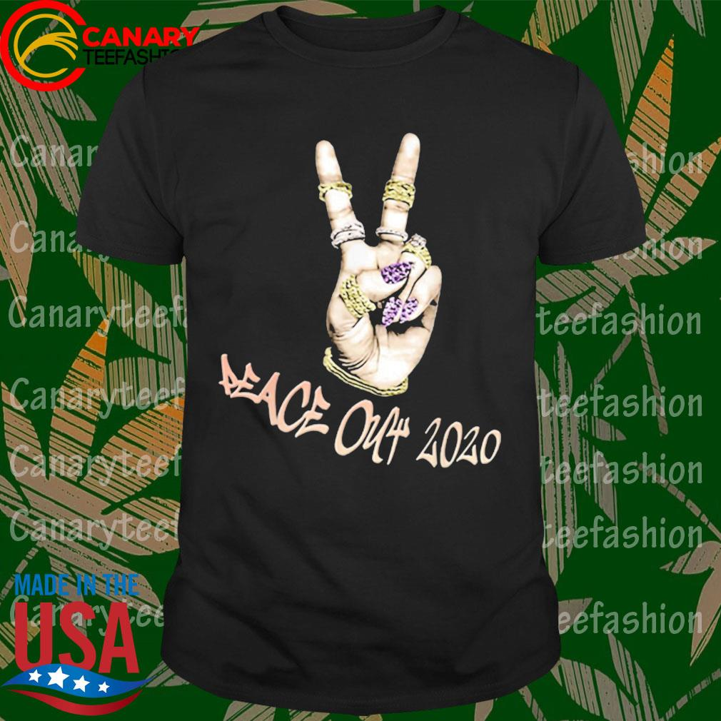 Peace Out 2020 Sign with Ring Bling shirt