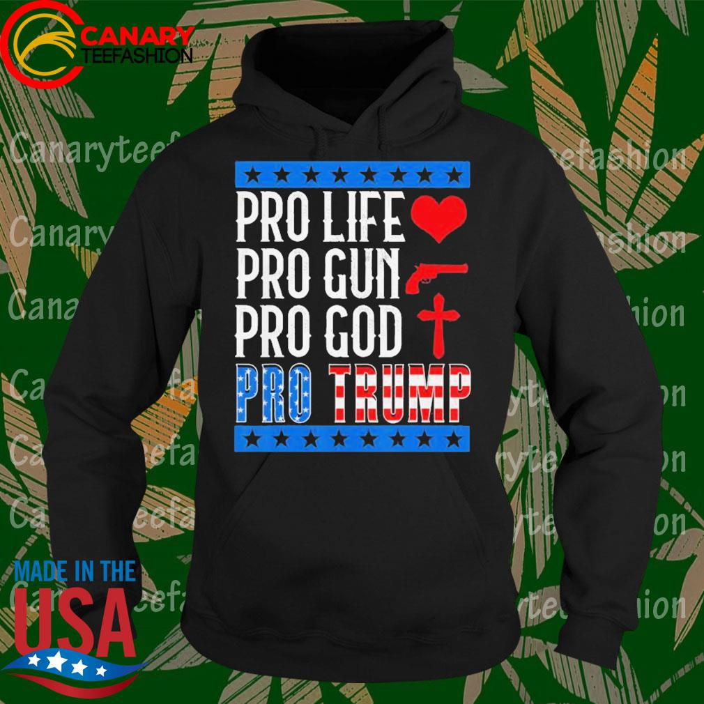 Pro Life Gun God Pro Trump 2020 Election Campaign s Hoodie