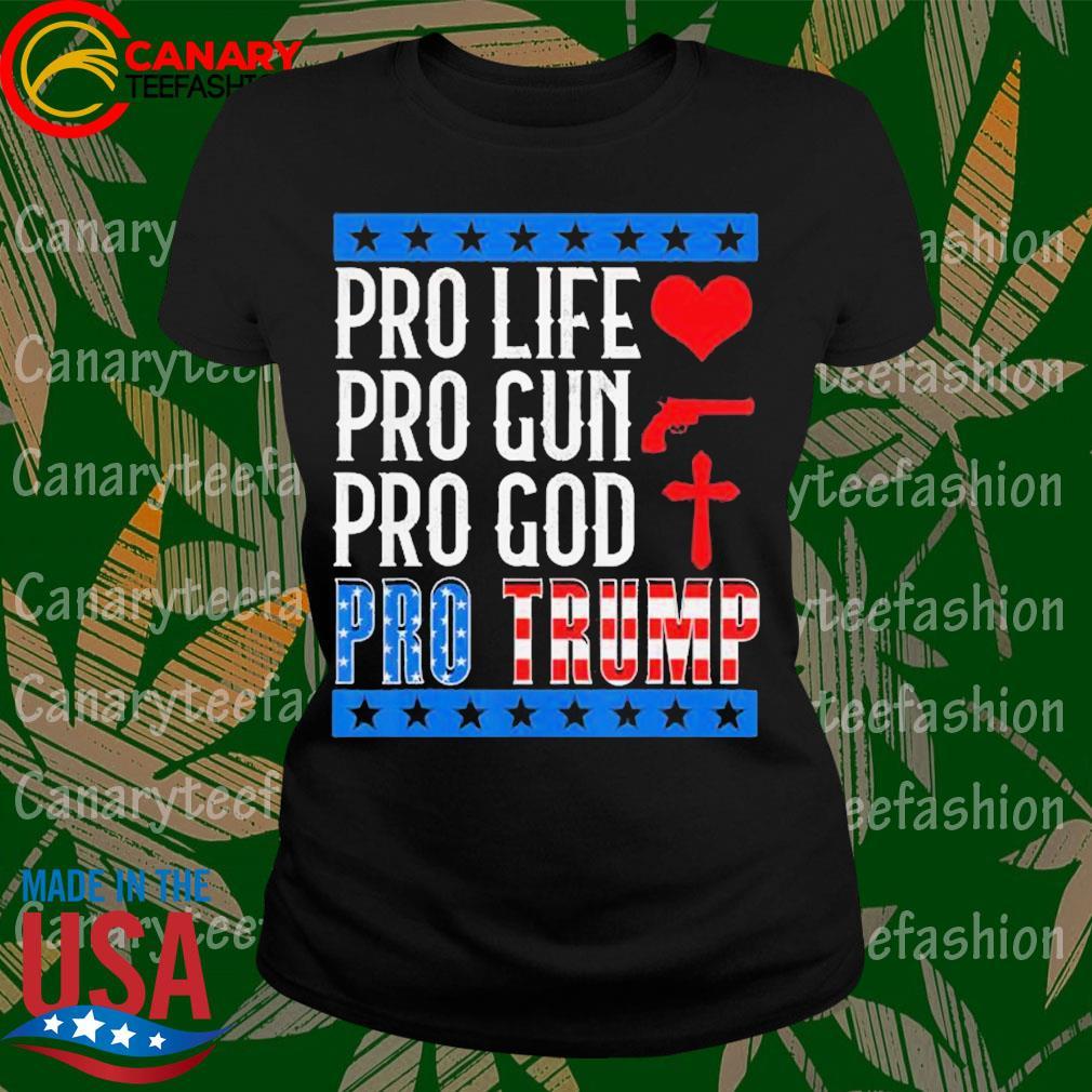 Pro Life Gun God Pro Trump 2020 Election Campaign s LadyTee