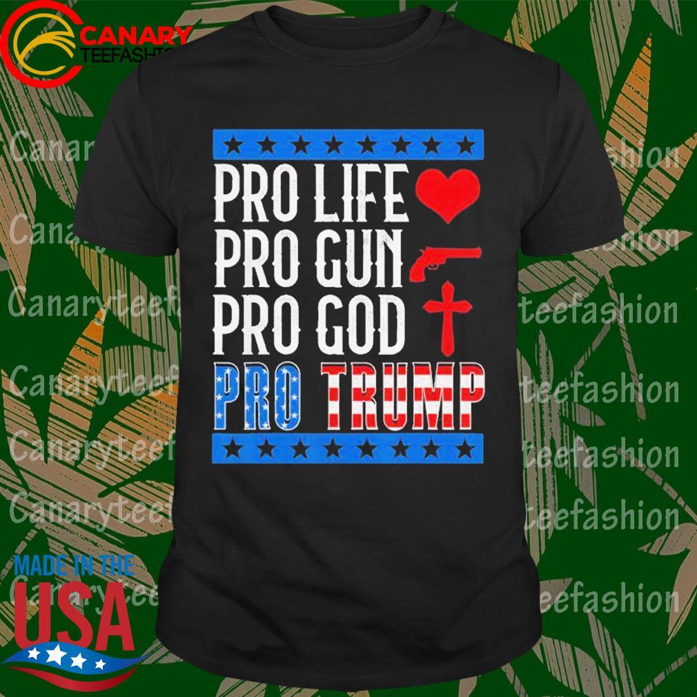 Pro Life Gun God Pro Trump 2020 Election Campaign shirt