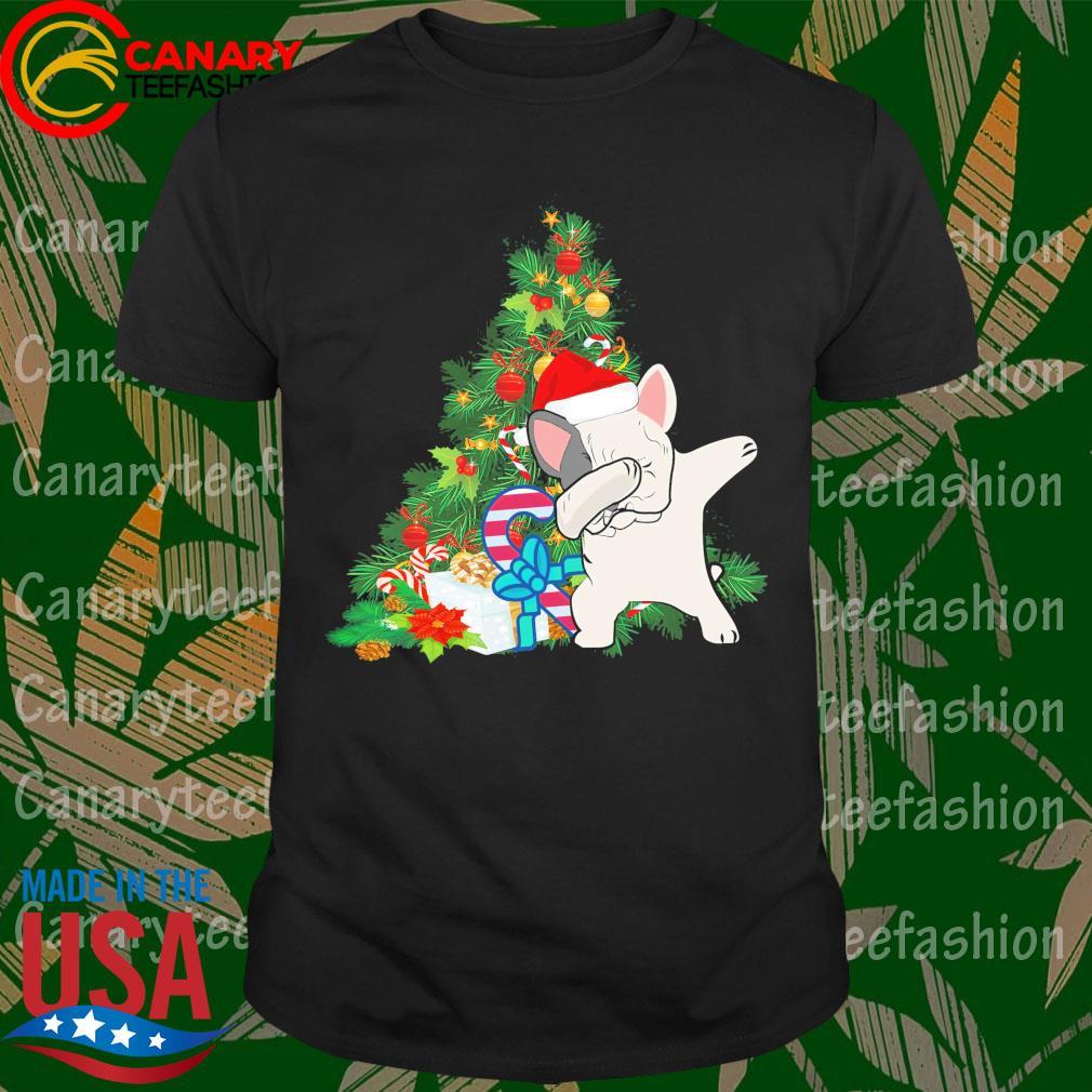 Pug Dabbing Santa Christmas Tree shirt