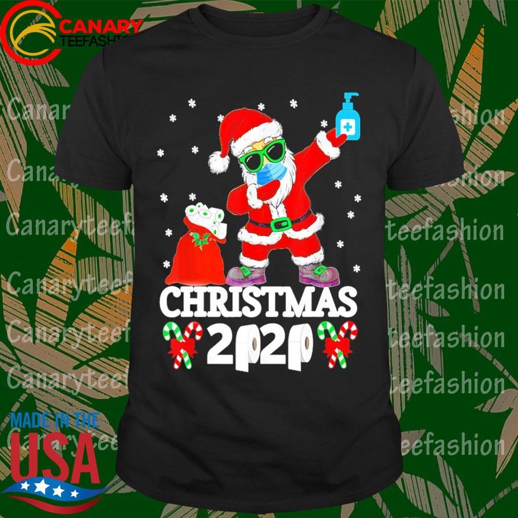 Santa Dabbing face mask Christmas 2020 toilet paper shirt