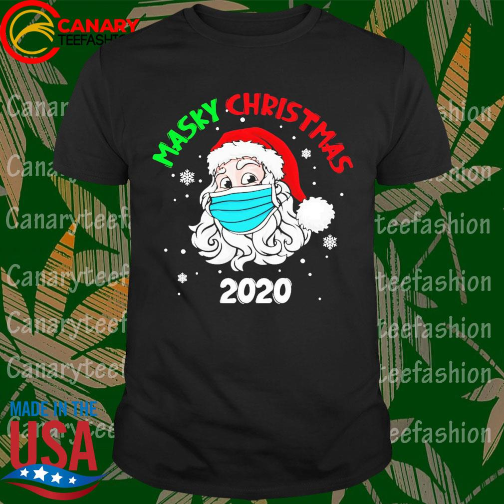Santa face mask Masky Christmas 2020 shirt