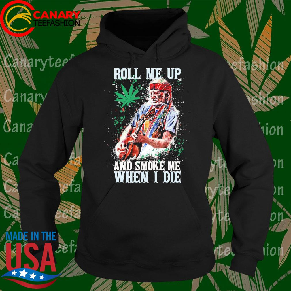 Willie Nelson Guitar Roll me up and smoke me when I die s Hoodie