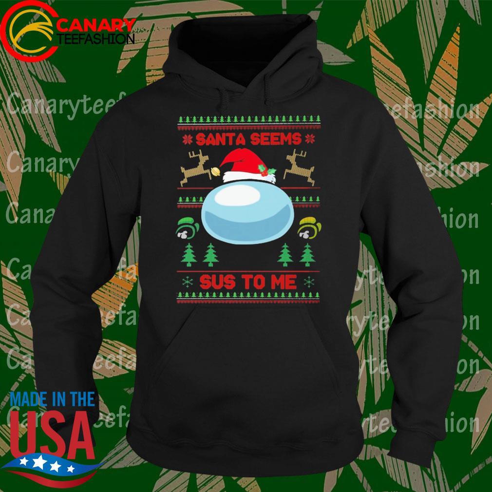 Among Us Santa seems Sus to me ugly Christmas sweats Hoodie