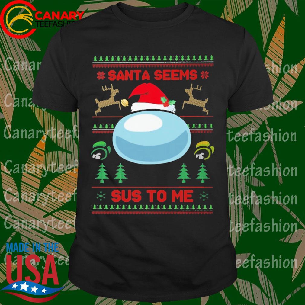 Among Us Santa seems Sus to me ugly Christmas sweatshirt