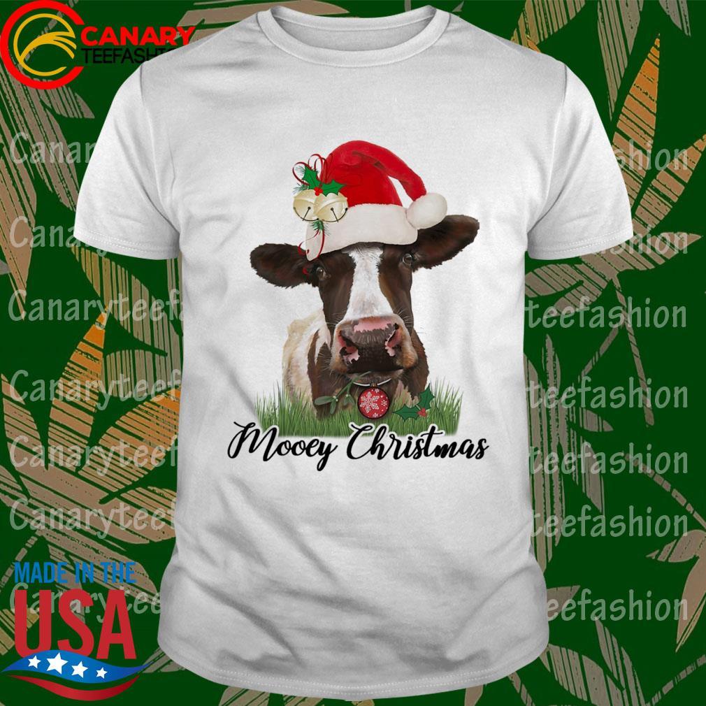 Cow Santa mooey Christmas sweatshirt